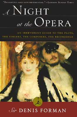 A Night at the Opera By Forman, Denis
